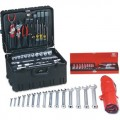 Jensen Tools JTK-94WD Deluxe Industrial Tool Kit in Roto-Rugged™ Wheeled Case, 17-3/4 x 14-1/2 x 12