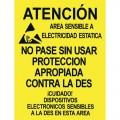 Desco 06740 Spanish Area Warning Sign, 17