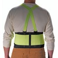 PIP 290-550 Large Back Support Belt with Hi-Vis Yellow, Nylon 8-inch Belt Width