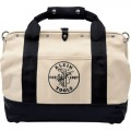 Klein 5003-18 18-Inch Pocket Canvas Tool Bag with Leather Bottom
