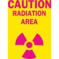 Brady 25276 Caution Radiation Area Sign w/PICTO