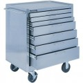 Kennedy 28087 7 Drawer Stainless Steel Rolling Cabinet