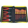 C.K. T3675S VDE Insulated Pliers SL & PH Screwdrivers 11 piece Tool Set