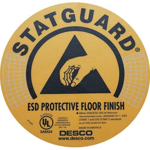 Desco 10500 statguard 8 floor labels 10 pkg comtrade store for Floor labels