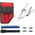 Jensen Tools 1-365RD Multi-Tool Kit II, Red Pouch