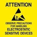 Desco 06722 English Static Awareness Label, 2