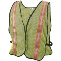 2195524 Lime Green Mesh Safety Vest, One Size Fits All
